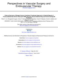 Clinical Outcome of Staged Versus Combined Treatment Approach ...
