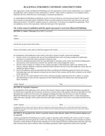 copyright assignment Download document in microsoft word format format.