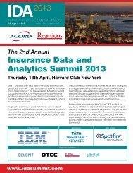 Insurance Data and Analytics Summit 2013 - Reactions