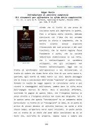 Edgar Morin Introduzione al pensiero complesso Gli strumenti per ...
