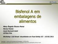 Bisfenol A em embalagem para alimentos - Mary Ângela Fávaro Perez