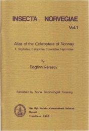 Atl he Coteoctera - Norsk entomologisk forening