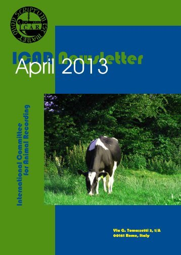 ICAR Newsletter - April 2013