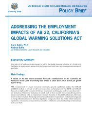 Addressing The Employment Impacts Of Ab 32, California's