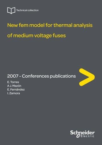 New fem model for thermal analysis of medium voltage fuses - Back ...