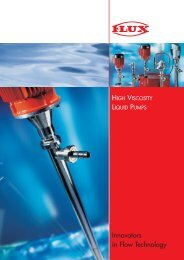 Flux High Viscosity Liquid Pumps - Trans-Market Process Systems