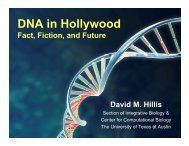 DNA in Hollywood - The University of Texas at Austin