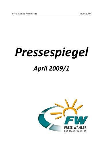 April 2009/1 - Freie Wähler Unterfranken