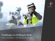 Challenges in Drilling & Well - Statoil Innovate
