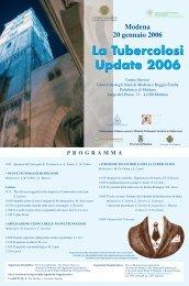 Modena 20 gennaio 2006 - Clinica malattie apparato respiratorio