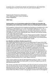 Ev.-Luth. Kirche - Stellungnahme Vernehmlassung Trennung Staat ...
