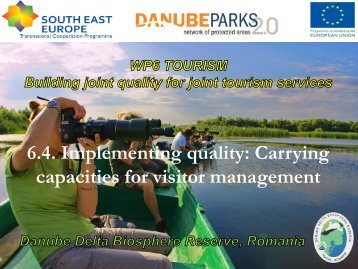 Carrying capacities for visitor management - DANUBEPARKS