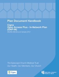 CIGNA OAP IN Handbook 2012 - The Episcopal Diocese of ...