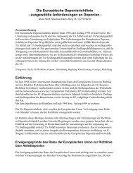 ausgewählte Anforderungen an Deponien - Deponie-stief.de