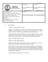 sex offender treatment program - Kentucky Department of Corrections