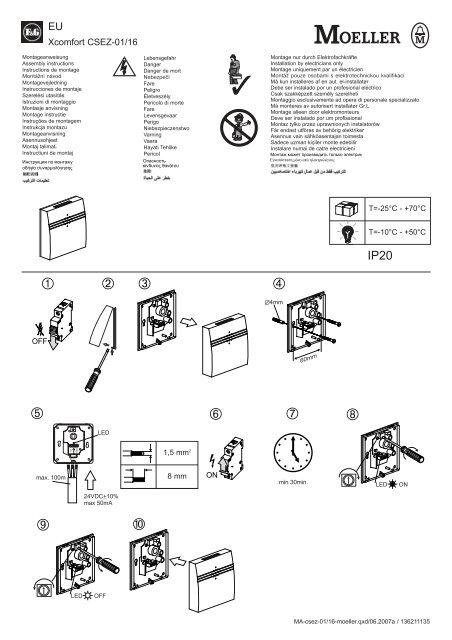 Luftkvalitetssensor CSEZ-01/16 - Moeller