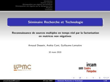 Séminaire Recherche et Technologie - IMTR