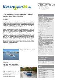4 Tage Main-Rhein-Flusskreuzfahrt mit TUI Allegra ... - Flussreisen 24