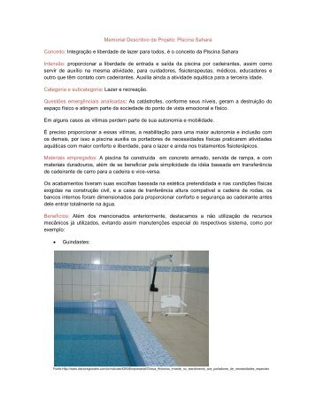 Memorial Descritivo de Projeto: Piscina Sahara ... - Creatividad Etica