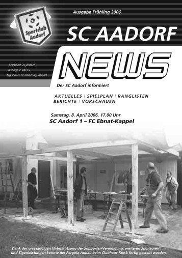 SCA-News Frühjahr 2006 - SC Aadorf