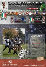 dicembre 2011 - Rugby Lyons Piacenza