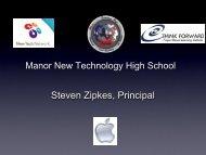 Manor New Technology High School - New Tech Network