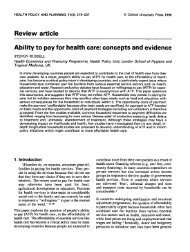 Review article Ability to pay for health care: concepts and evidence