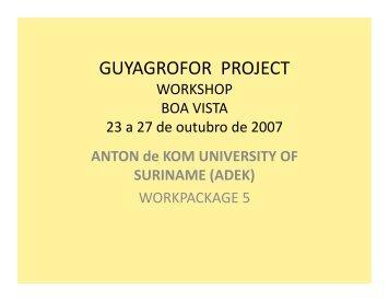 GUYAGROFOR PROJECT - SPLU.nl