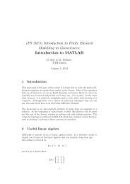 Introduction to MATLAB - ETH Zürich