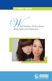 What Families Need to Know about Adolescent Depression A ...