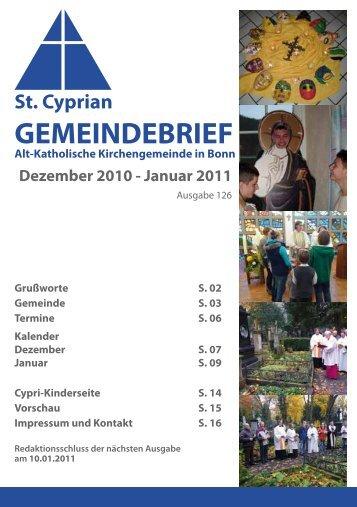 Dezember 2010 - Januar 2011 - Alt-Katholiken