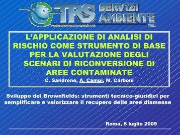 L'APPLICAZIONE DI ANALISI DI RISCHIO COME ... - Audis