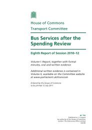 Bus Services after the Spending Review - Community Transport ...