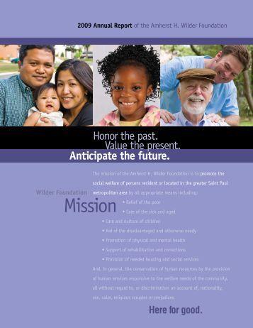 2009 Annual Report - Amherst H. Wilder Foundation