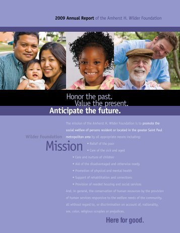 2009 Annual Report - Amherst H. Wilder Foundation