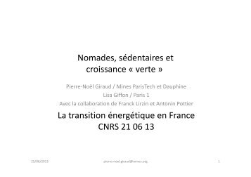 Transition énergétique, un vecteur de rééquilibrage entre emplois ...