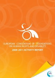 european consortium of foundations on human rights and disability