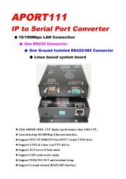 APORT111 IP to Serial Port Converter - Acceed