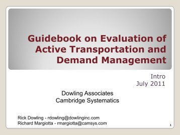 Guidebook on Evaluation of Active Transportation and Demand ...