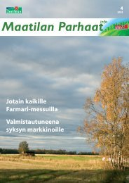 Maatilan Parhaat info 4 / 2005 - Snellman