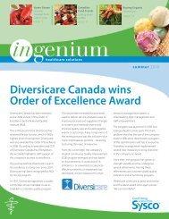 Diversicare Canada wins Order of Excellence Award - Sysco Canada