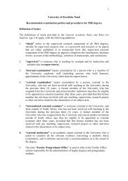 Recommended examination policies and procedures for PhD degrees