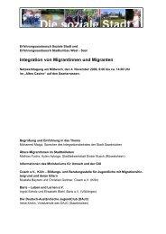 Integration von Migrantinnen und Migranten - Erfahrungsaustausch ...