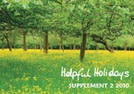SUPPLEMENT 2 2010 - Helpful Holidays