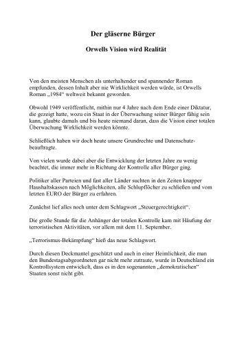 Bernd Schachheim - Der gläserne Bürger - 25-jahre-ghp.de