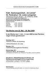 "Kath. Seelsorgeeinheit "" Im Leintal"" St. Pankratius / St. Lioba ..."