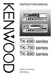 TK-690 series TK-790 series TK-890 series - Kenwood