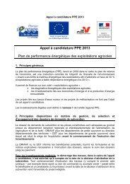 Appel à candidature PPE 2013 - DRIAAF Ile-de-France