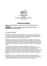 1 Society for International Development Berlin Chapter Protokoll - SID