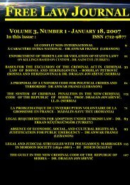 free law journal - volume 3, number 1 (18 january 2007)